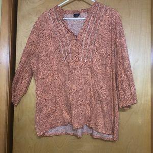 Coral 3/4 length sleeves dress shirt